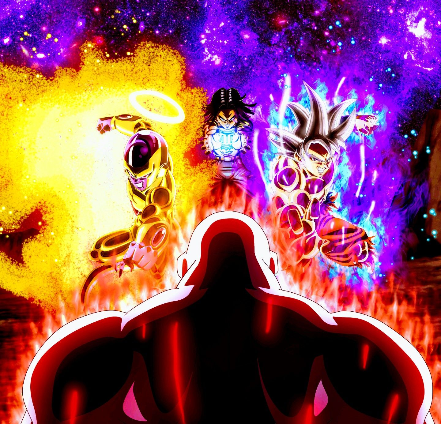 Goku Frieza Android 17 Vs Jiren Dragon Ball Super Anime Dragon Ball Super Anime Dragon Ball Dragon Ball Wallpapers