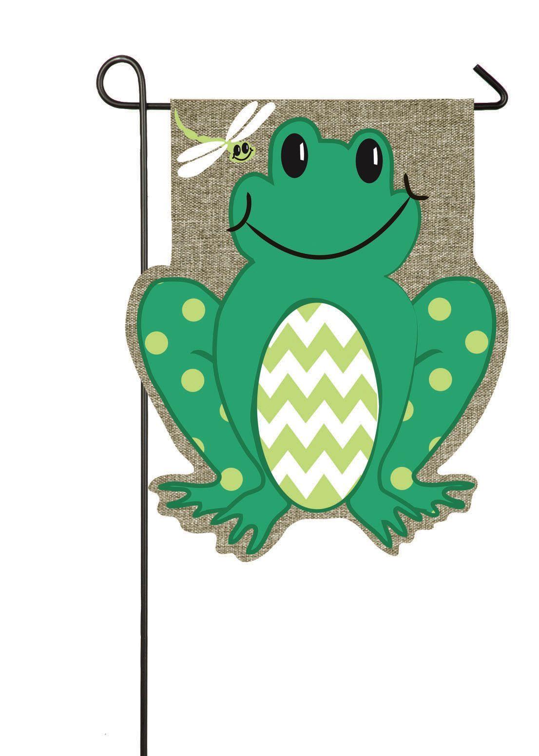 Frog 2 Sided Burlap 18 X 13 In Garden Flag Burlap Outdoor Evergreen Flags Garden Frogs