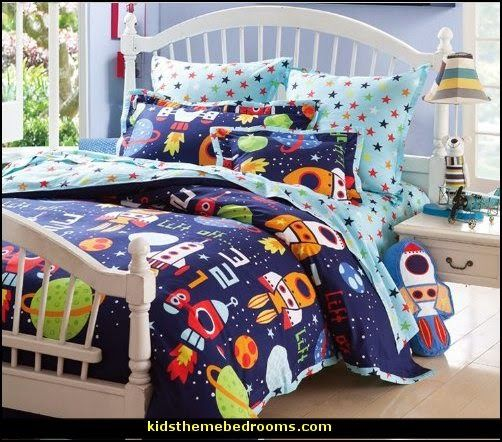 Robots Bedding Outer Space Theme Bedroom Decorating Ideas
