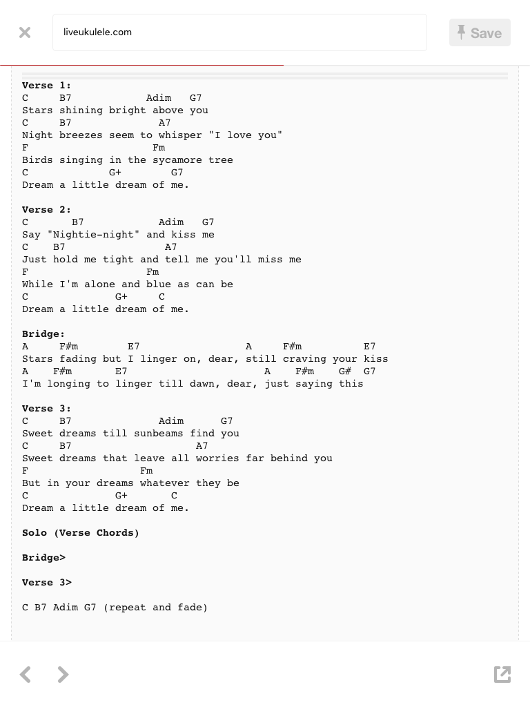 Dream A Little Dream Lyrics And Chords Acoustic Song Ukulele Songs