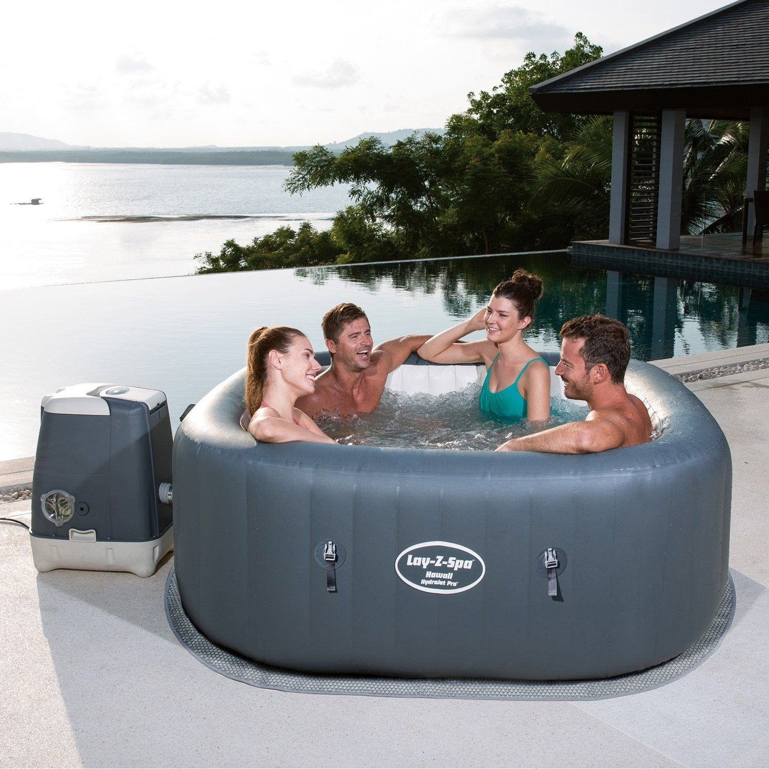 Jacuzzi Gonflable Leroy Merlin spa gonflable bestway hawai carré | spa gonflable
