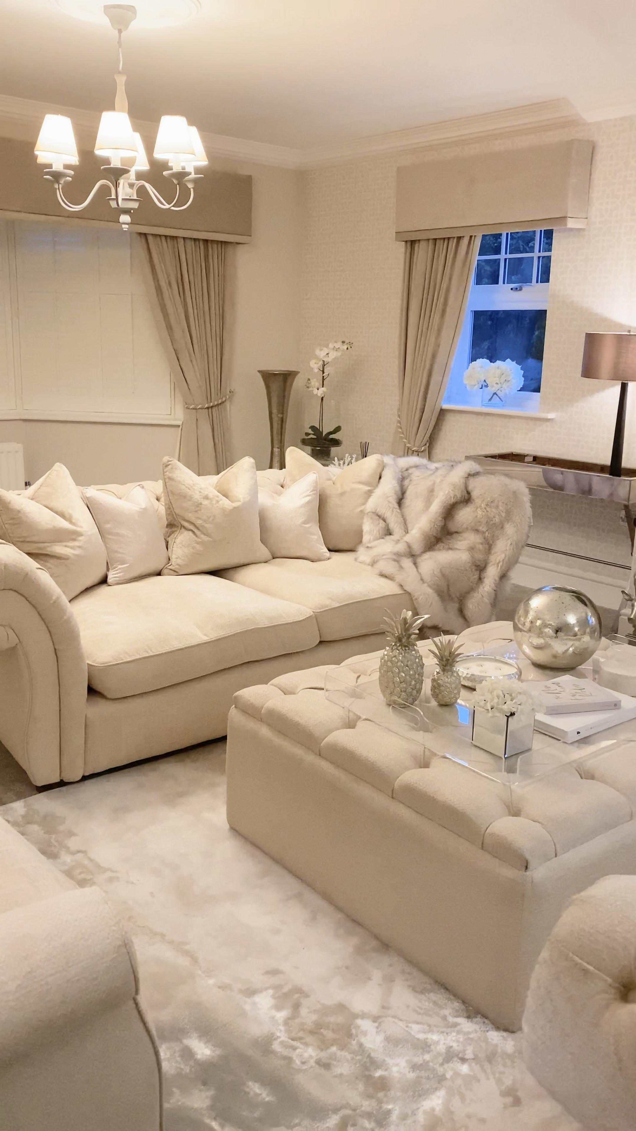 Photo of Cream Neutral Cosy Living Room