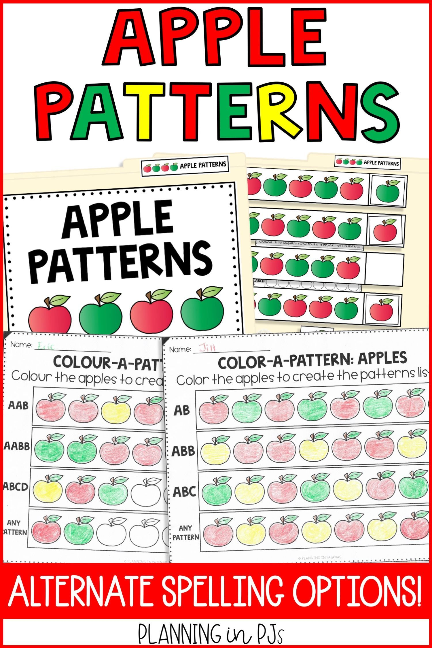 Apple Pattern Activities To Include In A Fall Autumn Theme Includes 2 Worksheets Asking Students To Pattern Activities Preschool Apple Theme Pattern Worksheet [ 2249 x 1500 Pixel ]