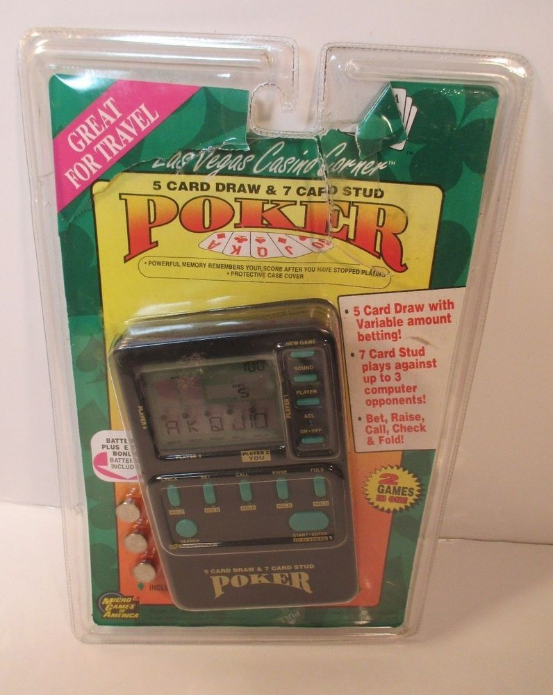 Micro Games Of America Electronic 1994 5 Card Draw 7 Card Stud Lnc