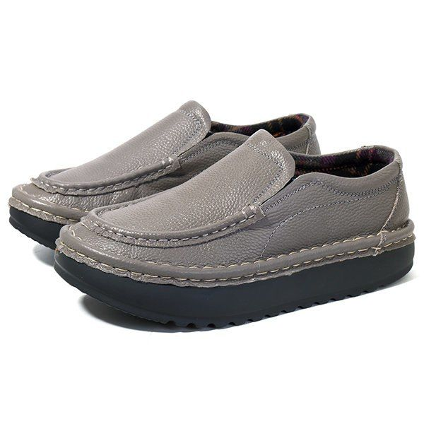 Comfortable Genuine Leather Slip On Lazy Casual Shoes BMBXCY