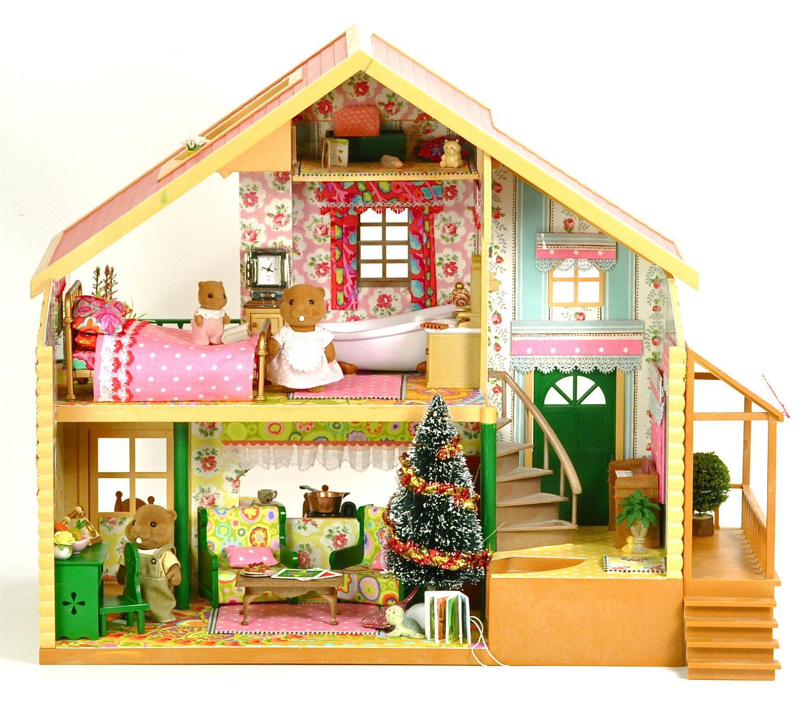 Sylvanian families cath kidston kaffe fassett decorated furnished house ebay fistuff