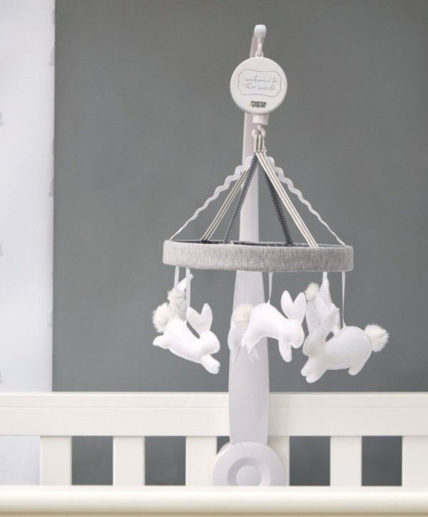 Mamas /& Papas Welcome to The World Musical Cot Mobile White