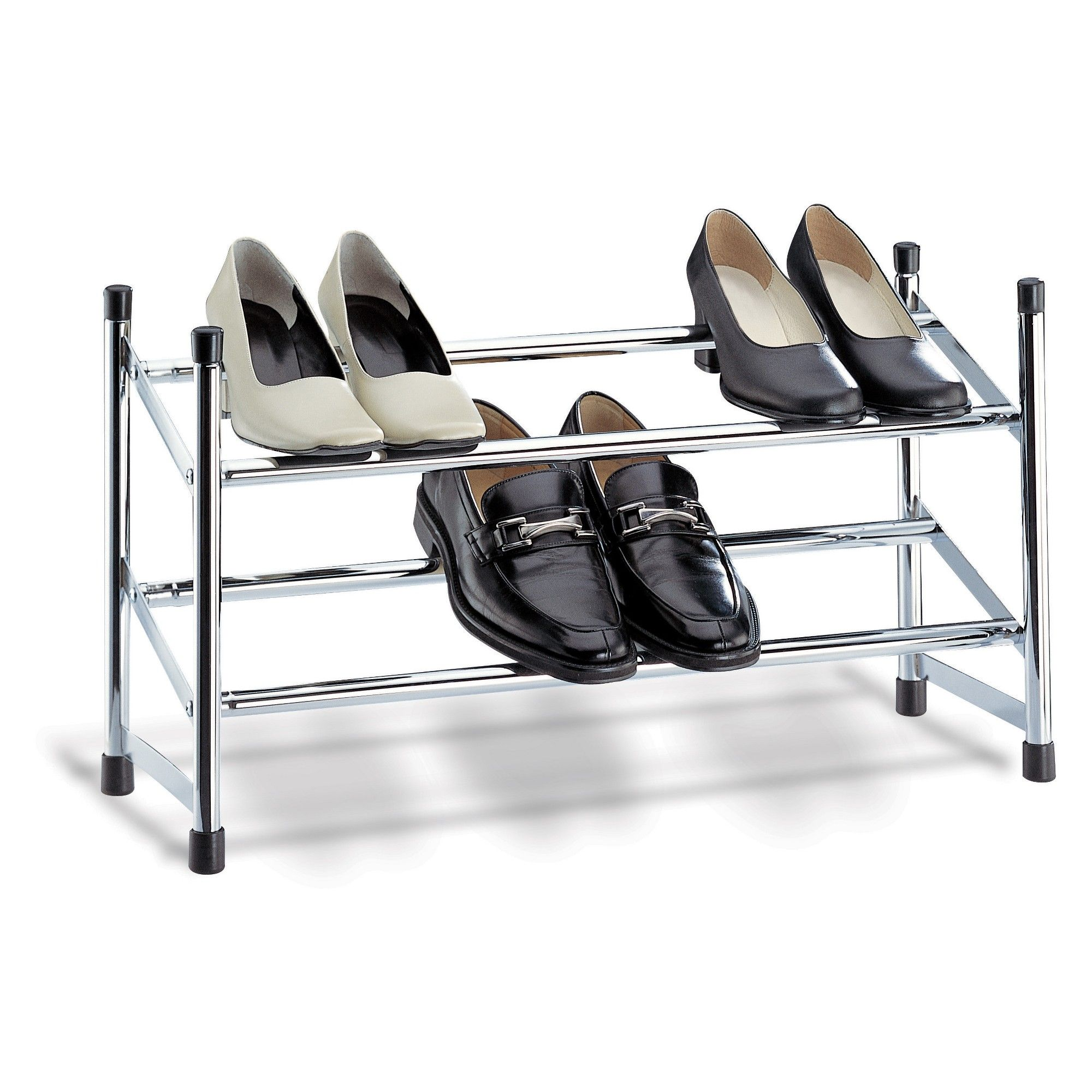 Neu Home Shoe Rack Shiny Silver With Images Metal Shoe Rack