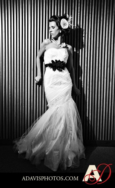 I love Ashley\'s glamourous bridal style with her wedding dress from ...