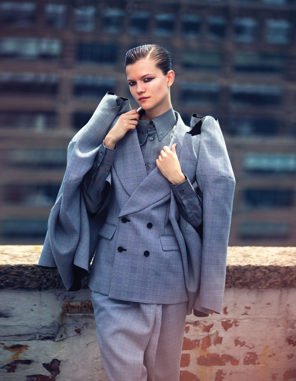 visual optimism; fashion editorials, shows, campaigns & more!: masculine rhyme: kasia struss by david bellemere for vogue thailand august 2013