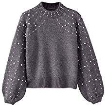 l'atteggiamento migliore 865ba 8f91a Btruely Sweatshirt Damen Winter Gestrickte Langarmshirt ...