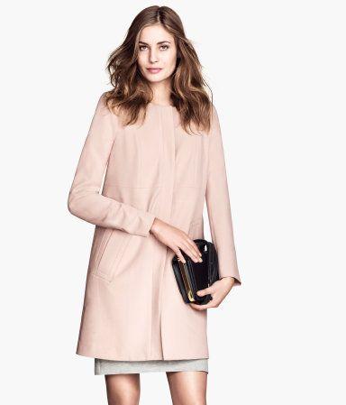 fitted coat in powder pink - h&m - under $50} | Under $100 ...