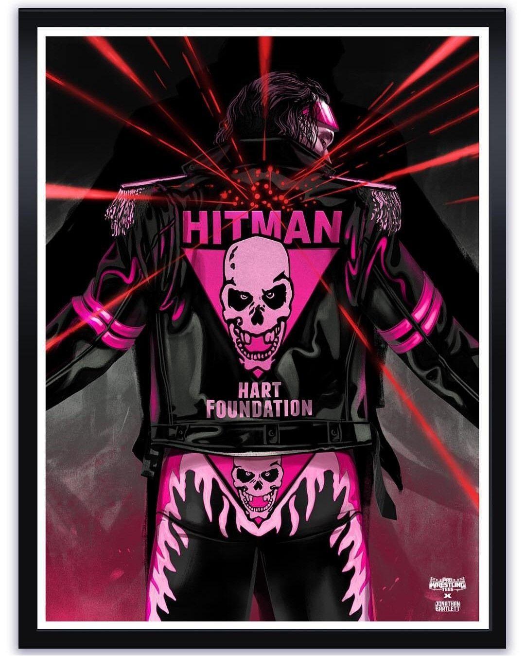 High-Quality Art Print of Wrestling Superstar Bret The Hitman Bret Hart Poster