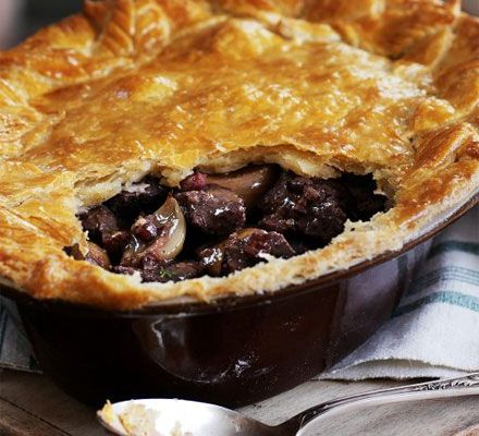 Steak & roasted shallot pie with a mustard crust | Recipe ...
