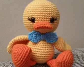 Duck Kuscheltier Ente Greifling Amigurumi Häkeltier