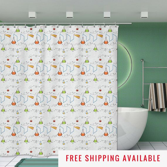 shower curtain chemistry geek gifts