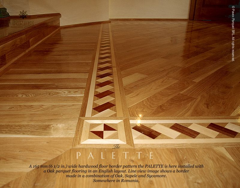 Wood Flooring With Inlay Floor Border Inlay Installed With An