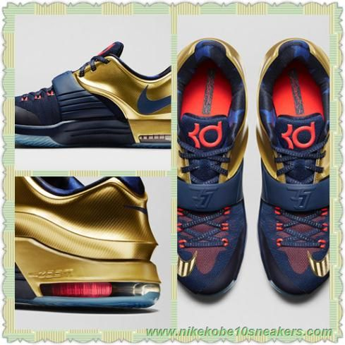Shopping Nike KD 7 PREMIUM Midnight Navy Bright Crimson Metallic