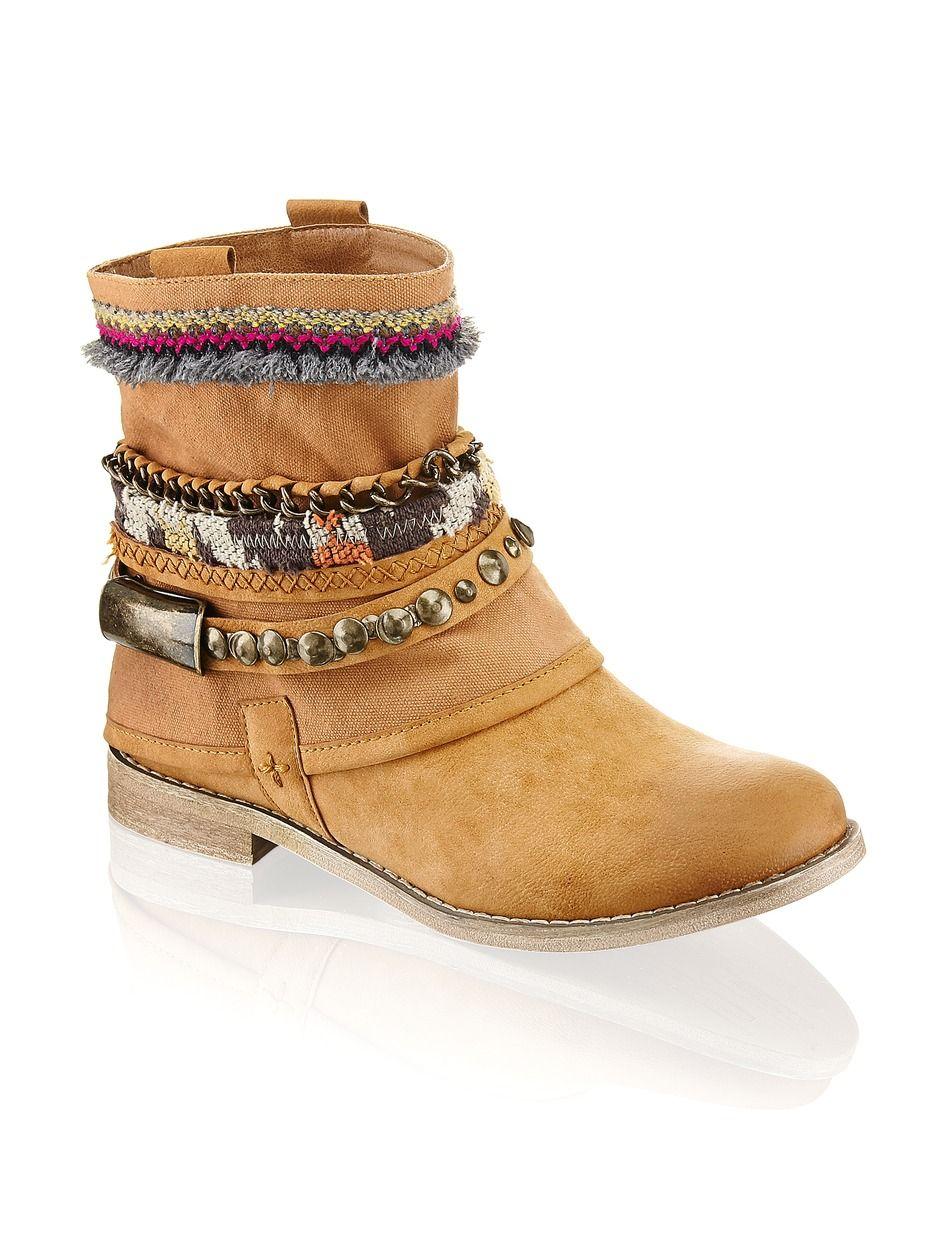 Funky Shoes Boot - braun - Gratis Versand | Schuhe | Boots & Stiefeletten | Online Shop | 1243602452