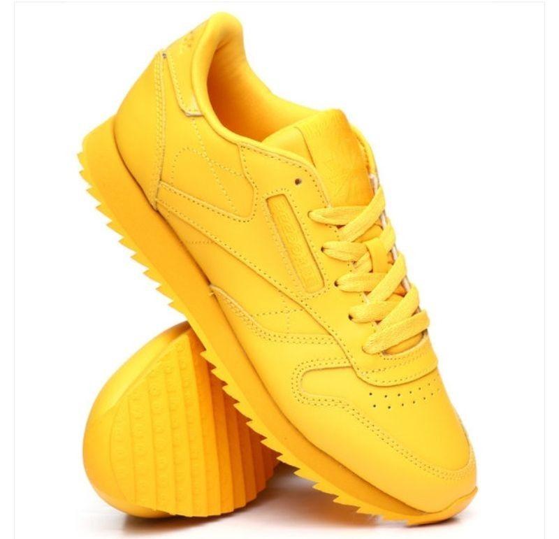 reebok #classic #sneakers #yellow #gold