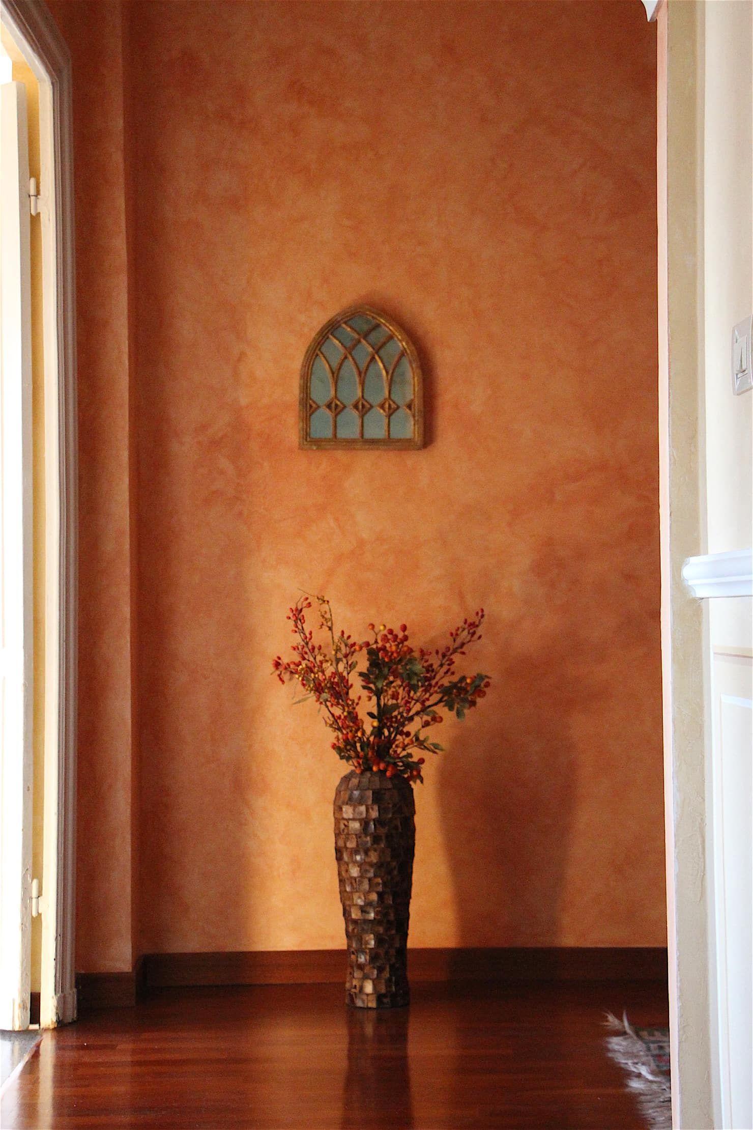 Pareti Decorate A Velatura Ingresso Corridoio In Stile Di
