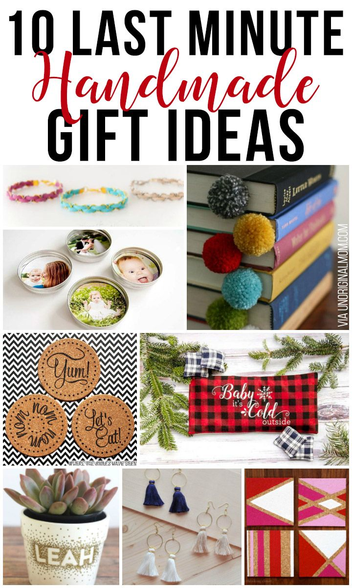 10 Last Minute Handmade Gift Ideas Last Minute Christmas Gifts