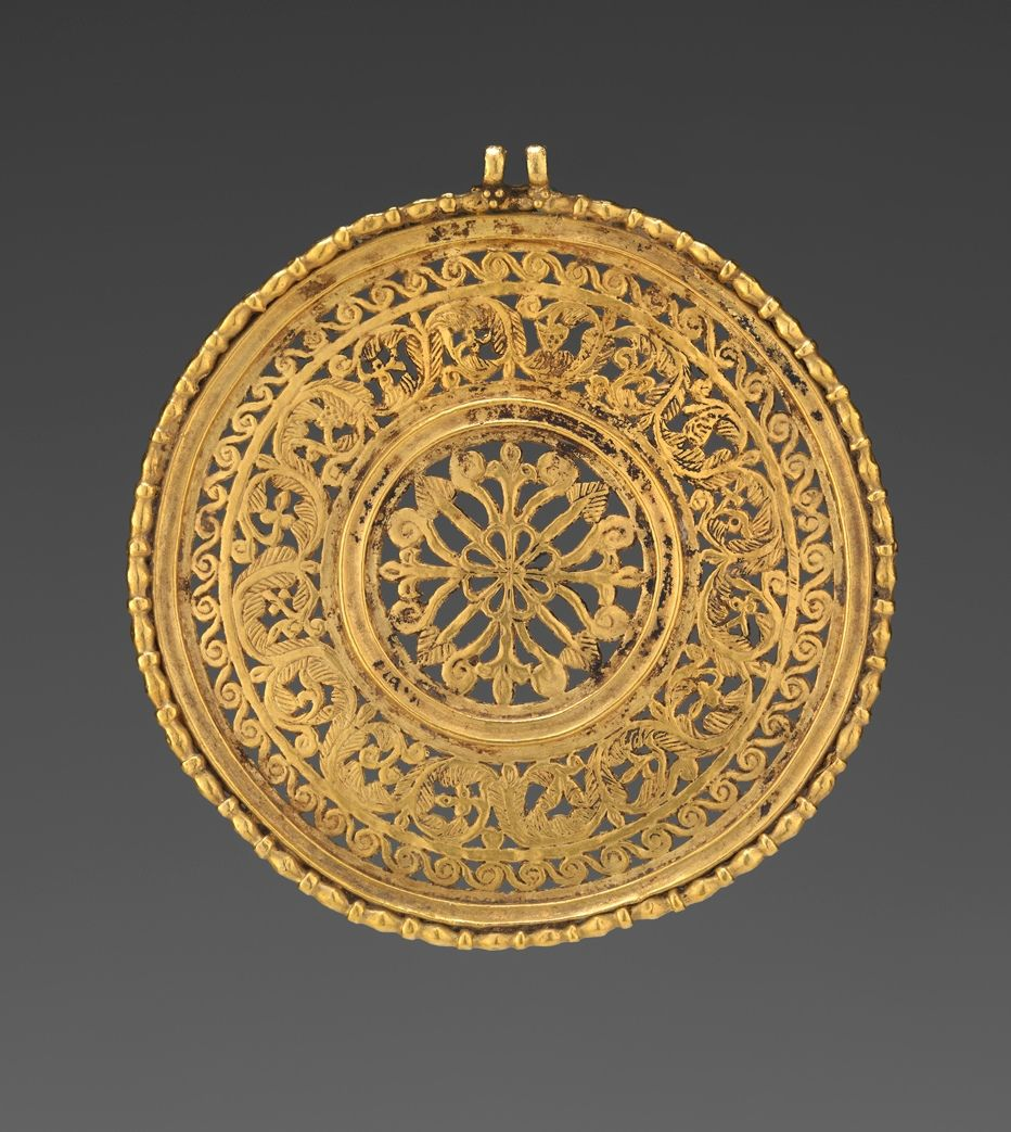 Openwork Medallion -   late 6th or early 7th century -   gold. | Virginia Museum of Fine Arts