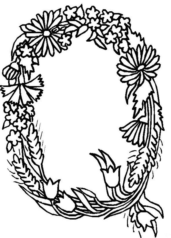 Free Colouring Pages Flowers Printable : Flower page printable coloring sheets alphabet flower q