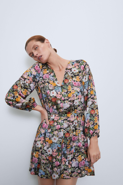 Floral dress in 2020 floral dress dresses flare jeans