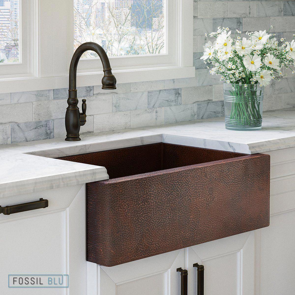 Fsw1100 Luxury 33 Inch Pure Hammered Copper Farmhouse Kitchen Sink Single Bowl Wit Copper Kitchen Sink Farmhouse Copper Farmhouse Sinks Farmhouse Sink Kitchen