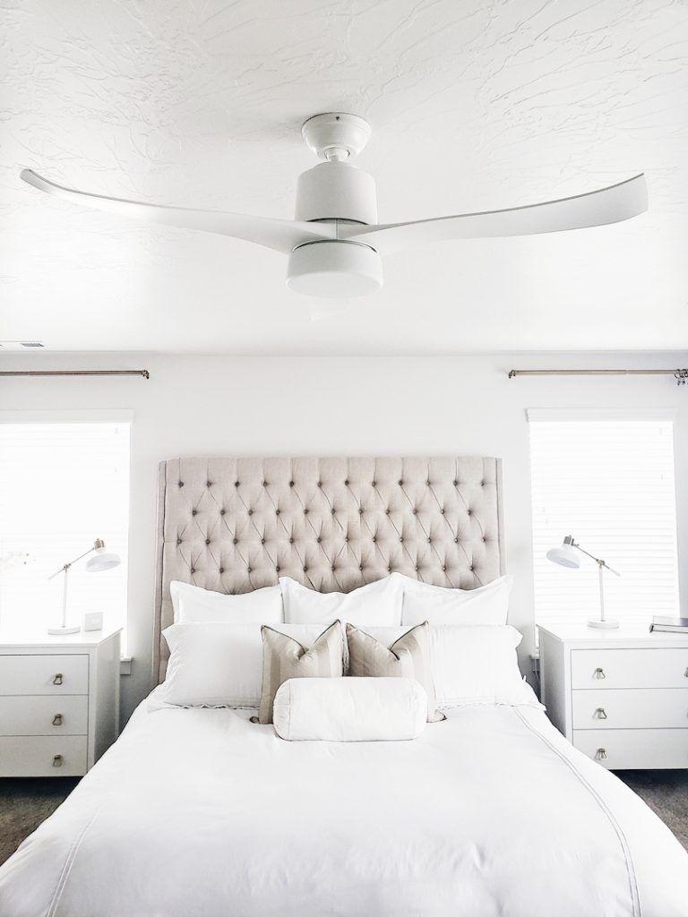 Hunter Fan Company White Lane Decor White Ceiling Fan Bedroom