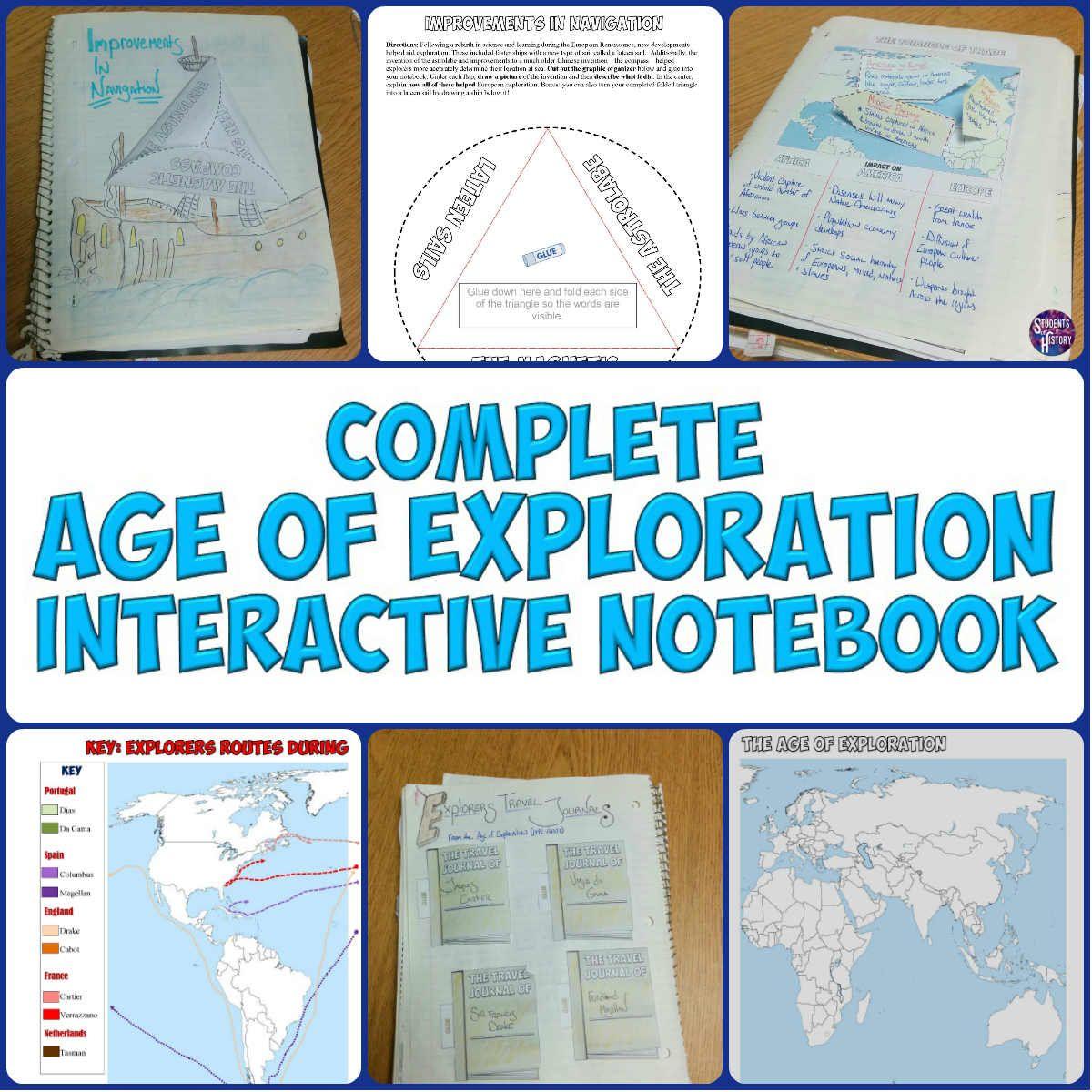 worksheet Age Of Exploration Worksheet age of exploration interactive notebook notebooks notebook