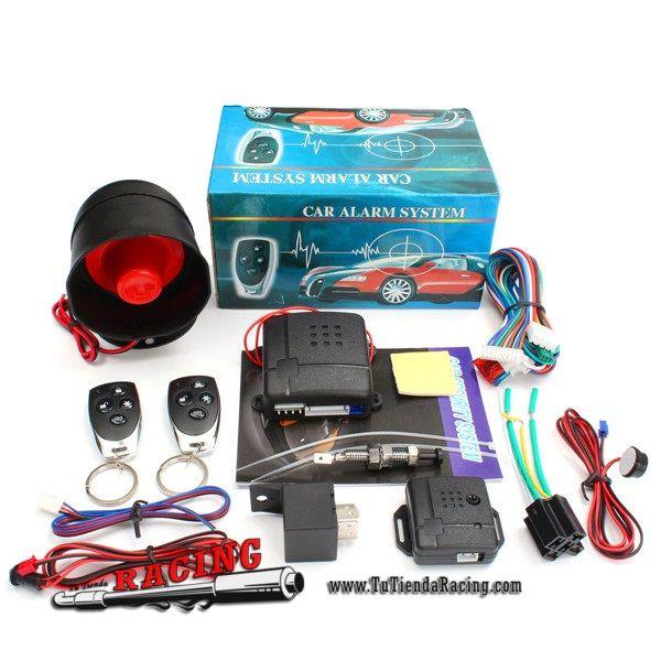 Kit Universal Antirrobo Para Coche 2 Mandos A Distancia Sirena