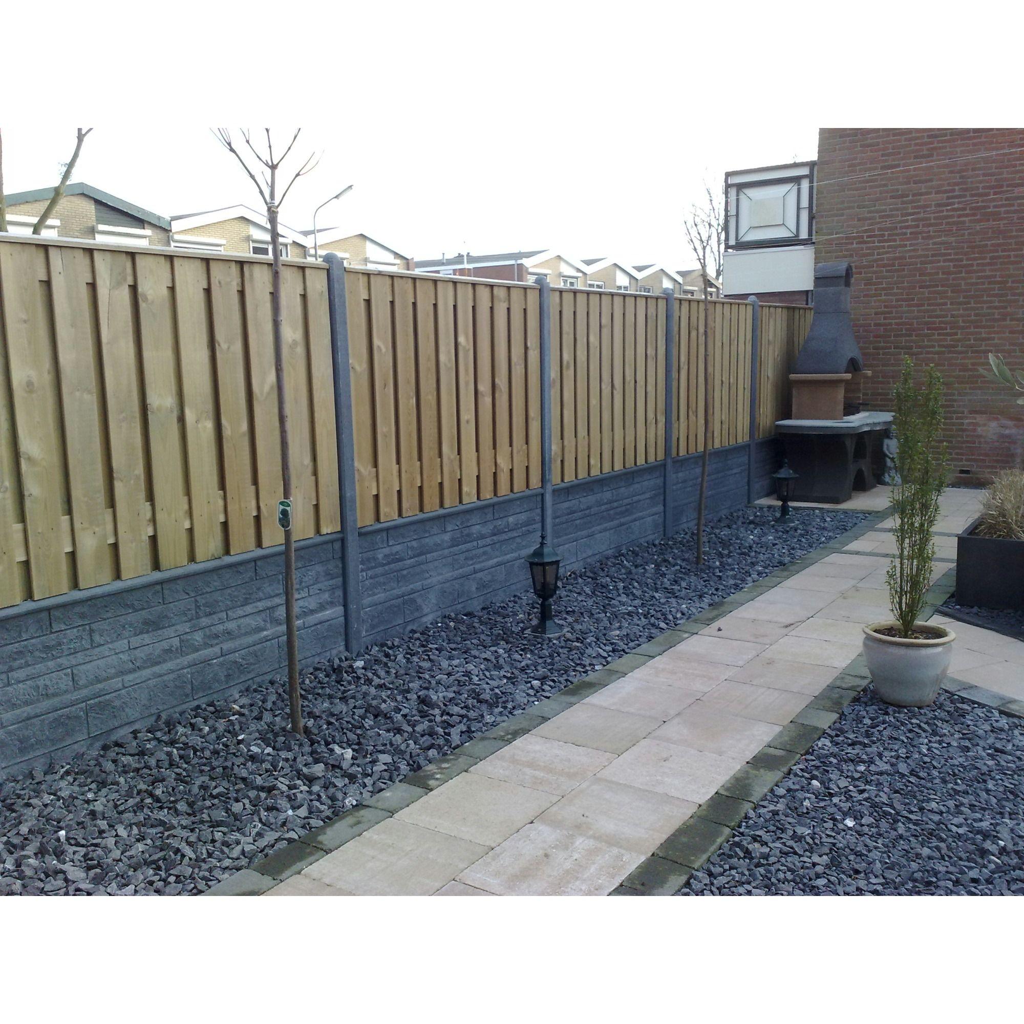 Garden Elements houten scherm wit, 130x180 cm