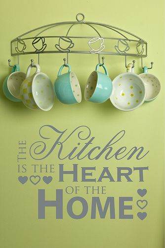 Kitchen Wall Decor Sayings i like the idea of putting these mugs ...