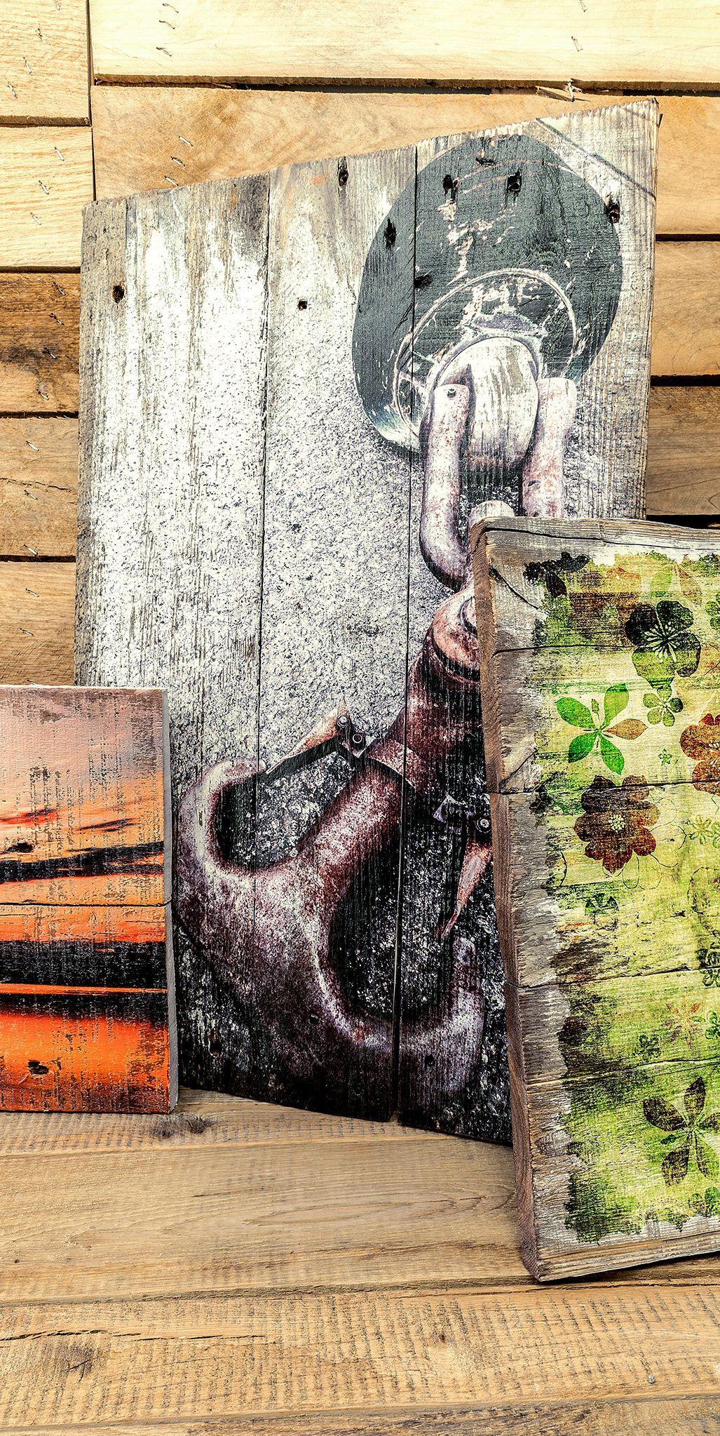 Holzbilder – vom LKW ins Wohnzimmer. Altes Palettenholz für urige ...