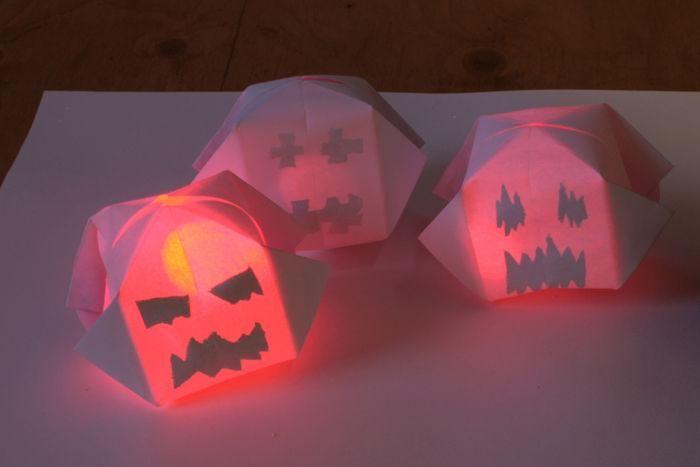 DIY Halloween  DIY Making Glowing Paper Pumpkins  DIY Halloween - how to make halloween decorations for kids