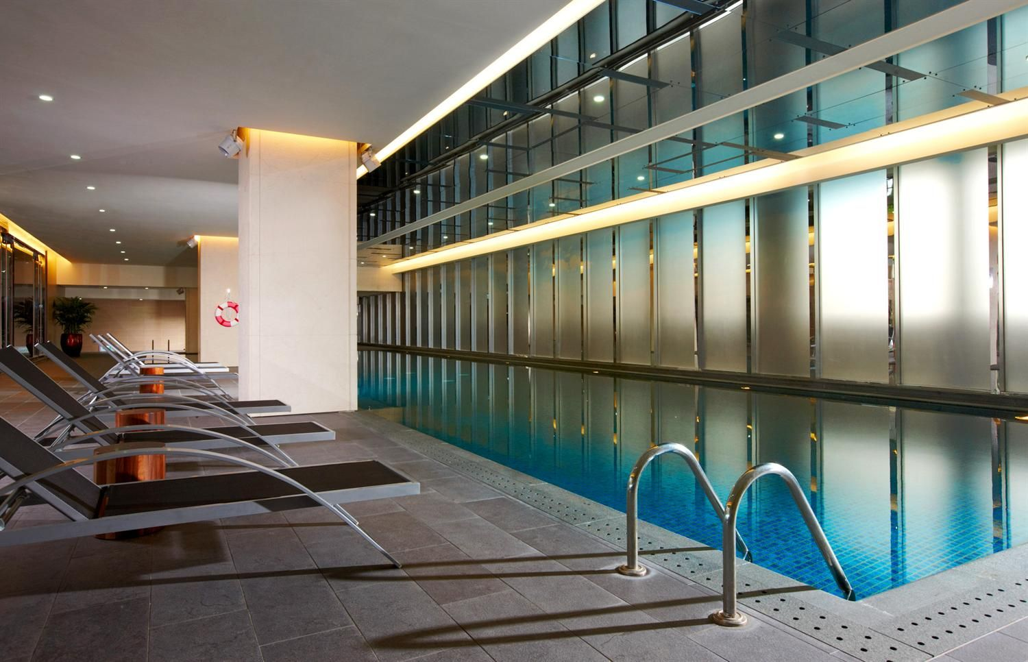 Captivating Indoor Pool With Lengthwise Shape And Nice Sun ...