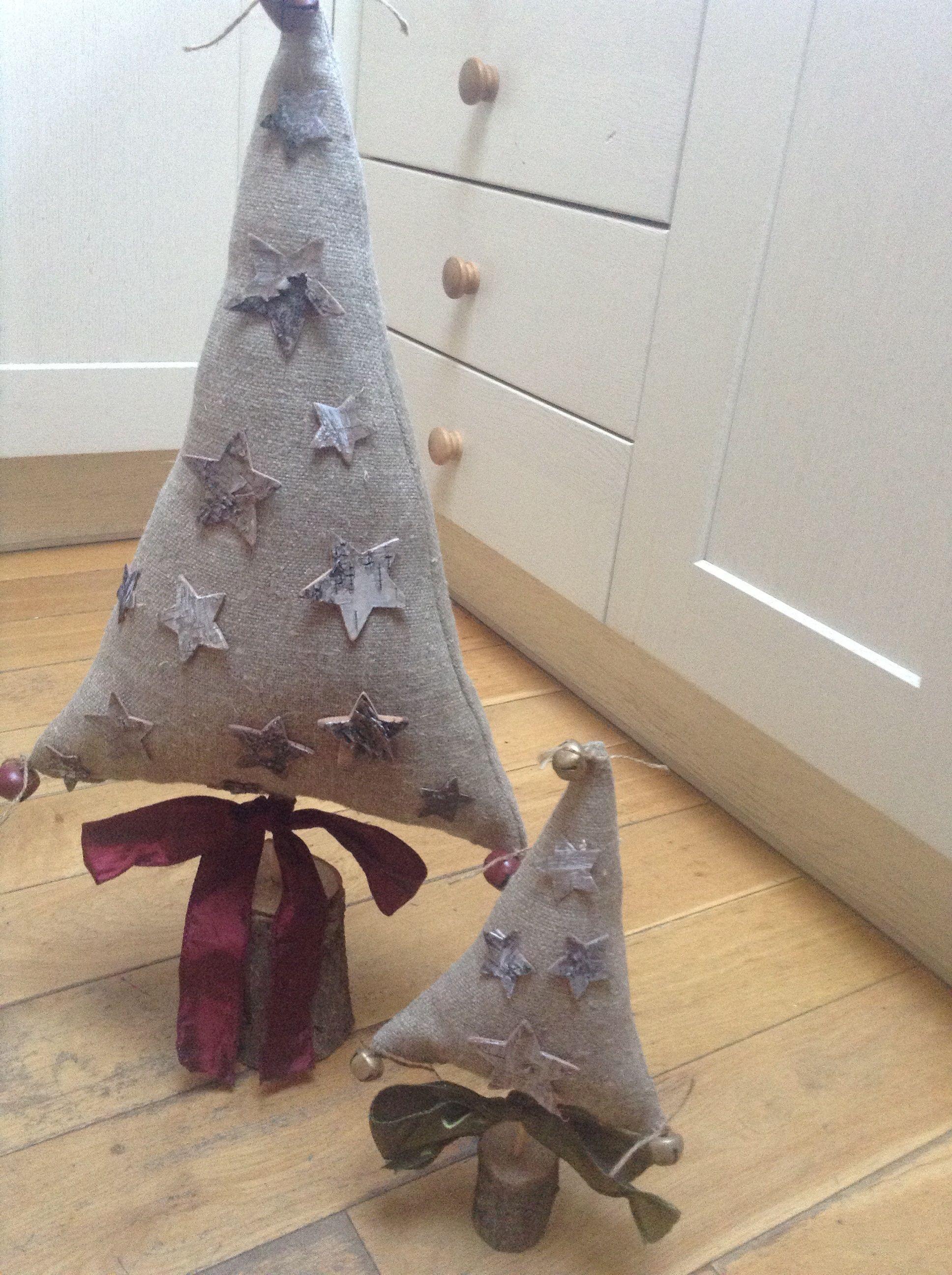 Linen Christmas trees