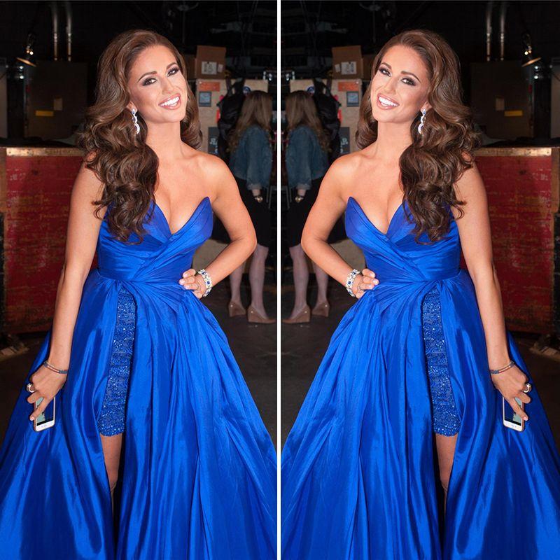 Royal Blue Abendkleid Liebsten Ärmel Elegante Prom Kleider 2016 Sexy ...