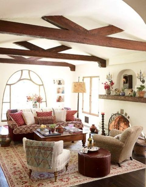 cozy-living-room-designs-with-exposed-wooden-beams-18 - DigsDigs