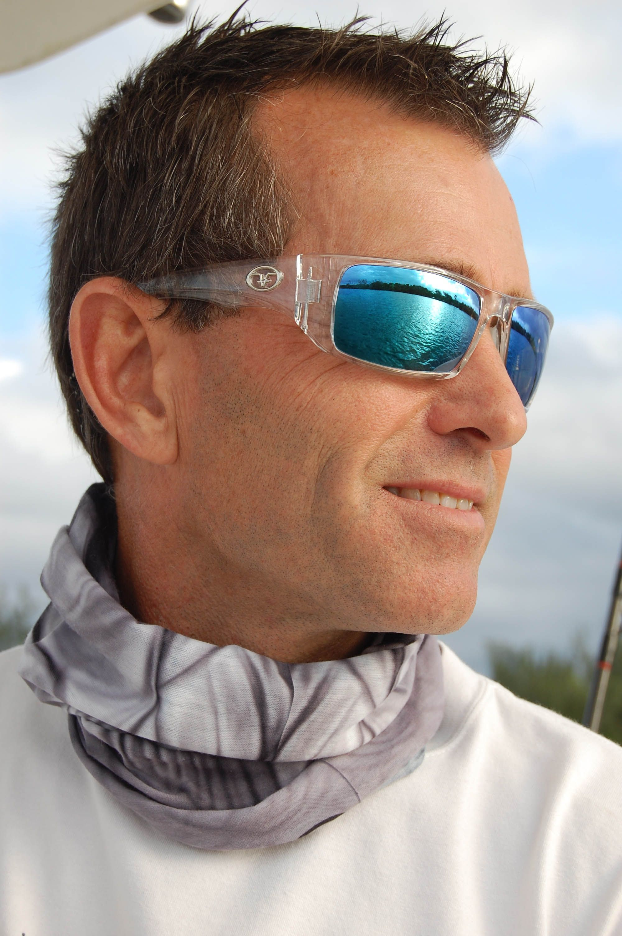 Capt. Eric Vandemark sporting the Morocco's in Crytal/Blue Mirror.