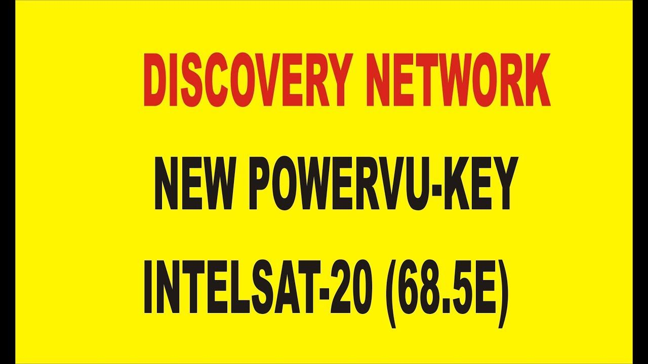 DISCOVERY NETWORK NEW POWERVU KEY INTELSAT 20 68 5E 2018
