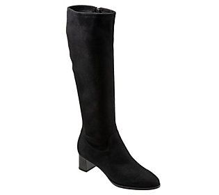 Stand tall (and stay supremely stylish) with these striking Kacee wide-calf boots. From Trotters.