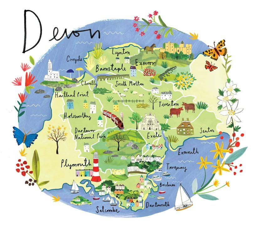 Map Of Uk Devon.Pin By Courtney Cauldwell On Maps In 2019 Devon Map England Map