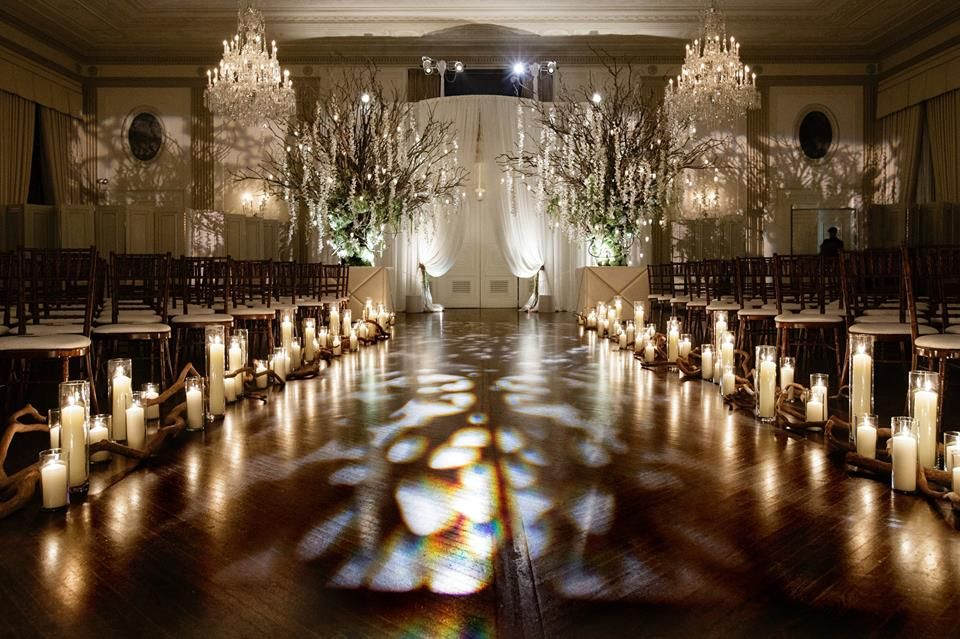 Dreamy Neutral Wedding Ceremony Bathed In Candlelight Asiel Design Pinterest Weddings Decor And