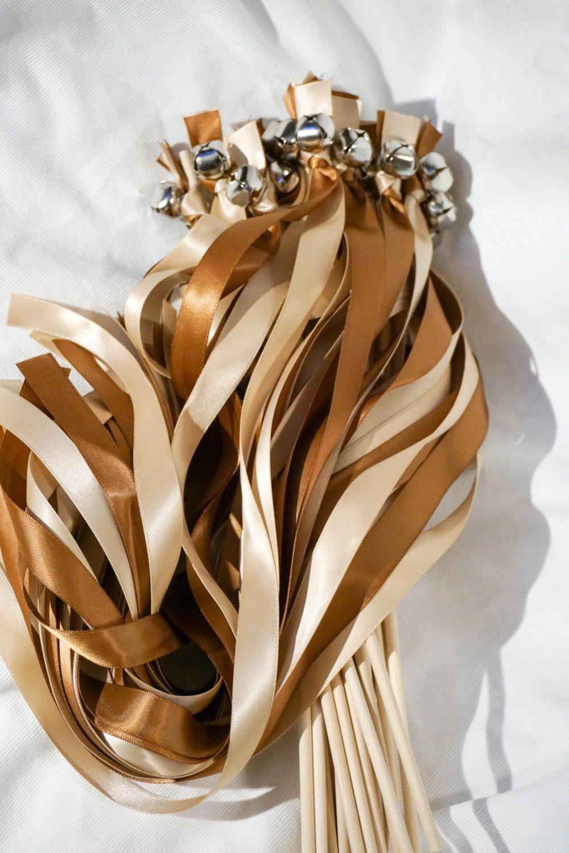 100 Ribbon Wedding Bell Wands Ribbon Wands Bell Wands