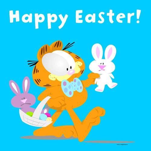 Happy Easter, peeps! Garfield, Easter, April 2017