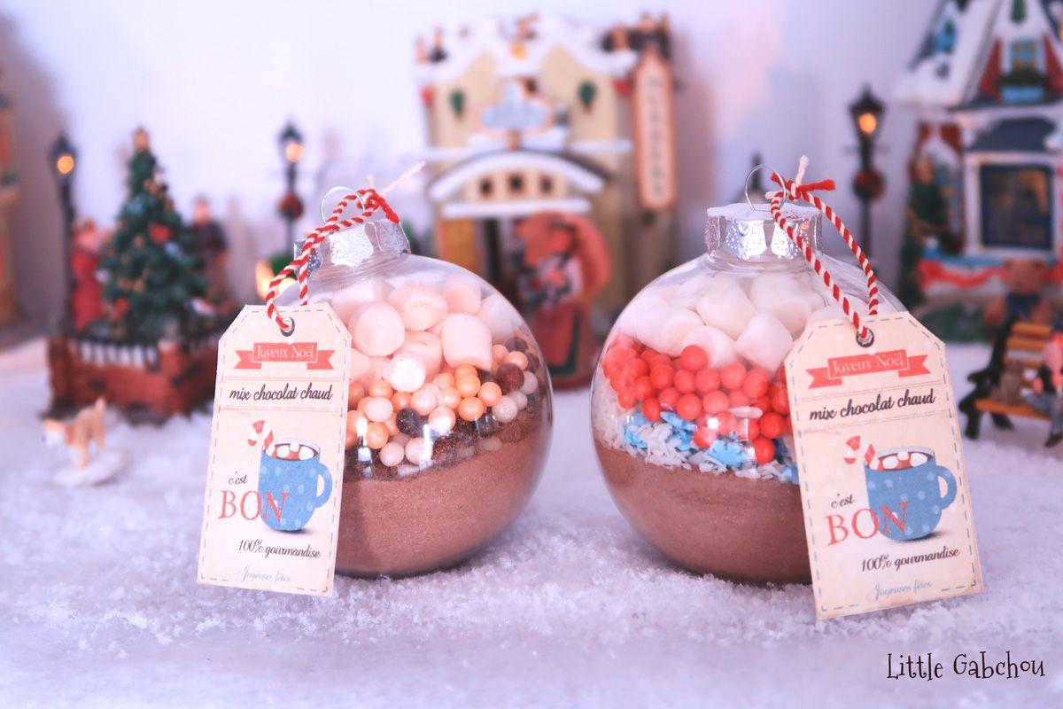 Idee Cadeau De Noel A Faire Soi Meme Les Boules Chocolat Chaud