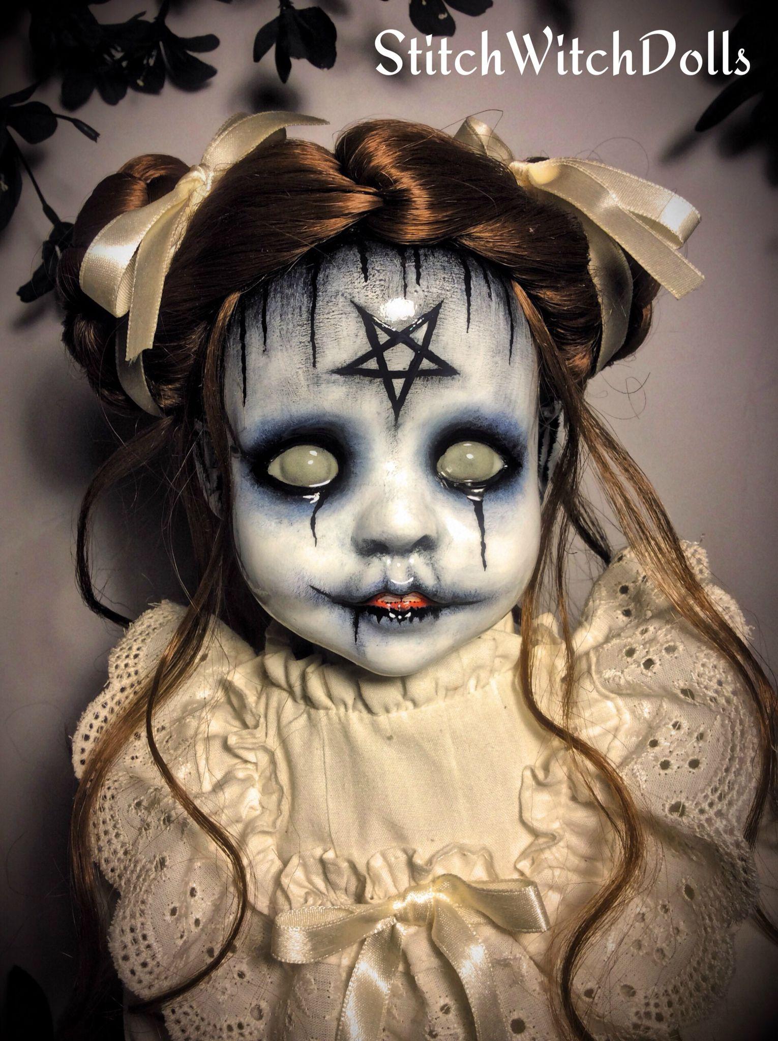StitchWitchDolls.... Scary dolls, Halloween doll, Creepy
